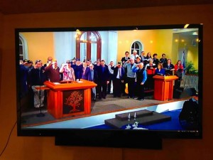 Streaming services from Leah's hometown Columbus congregation