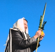 man with lulav and etrog