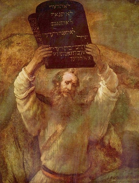 rembrandt's moses painting