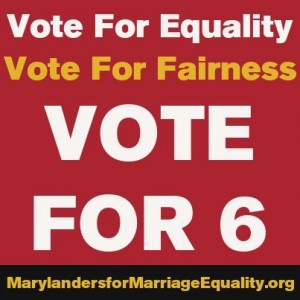 Marriage Equality poster for Maryland's Question 6