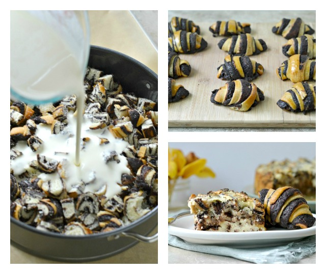 Rugelach Cheesecake collage