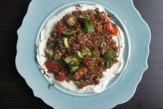 red quinoa with labne2 web