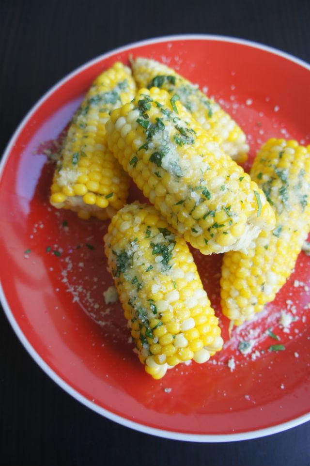summer corn w herb butter parmesan