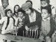 Children who are new immigrants to Israel at a Hanukkah celebration circa 1951. (PikiWiki Israel)