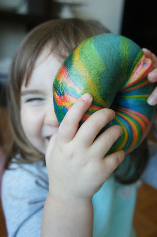rainbow bagel photo shoot1