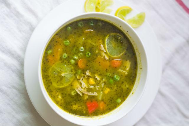 Peruvian turkey soup