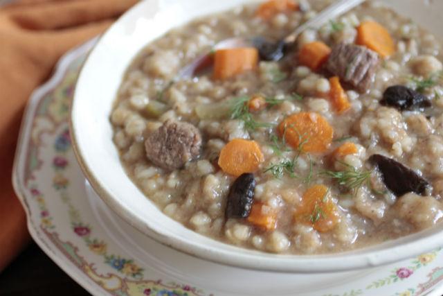 beef barley mushroom soup main