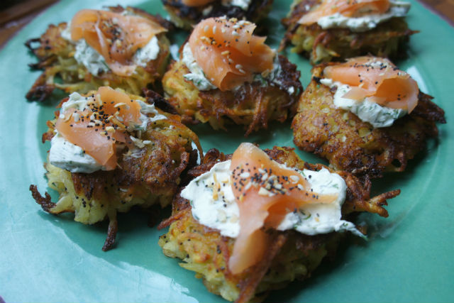 everything bagel latkes main