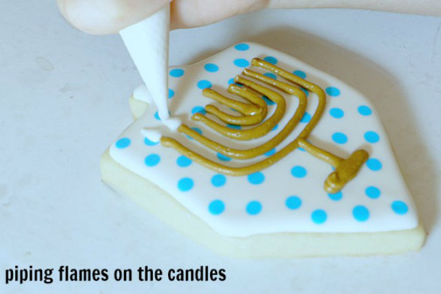 menorah cookies