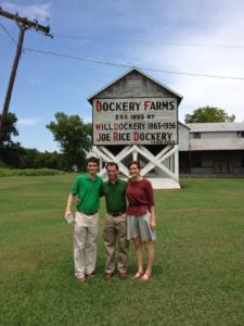 Summer interns visiting historic Dockery Farms