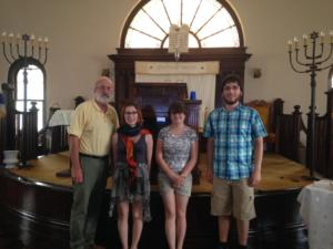 Summer interns visiting Delta synagogues.