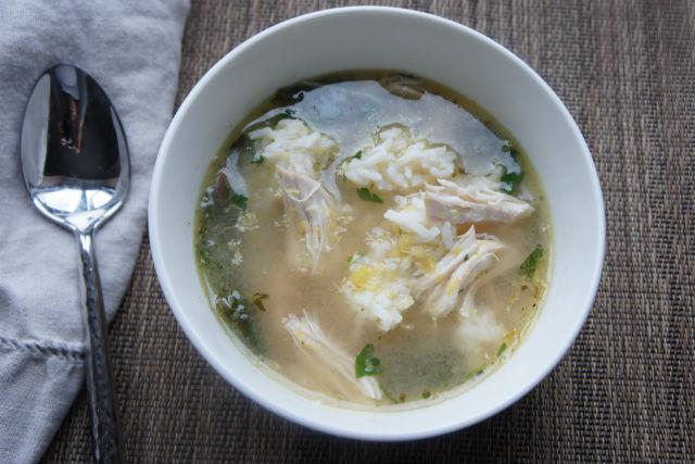 lemony chicken soup main