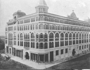 A historic image of the recently-restored Riley Center/Marks & Rothenberg building.