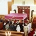 Image Source: Wikimedia Commons. Description	 English: Wedding Chuppah in the Vredehoek Synagogue, Cape Town, South Africa 1979 Date	25 March 1979 Source	Own work Author	Hilt0nT
