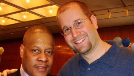 Marvin Brown of Adat Shalom Synagogue with Rabbi Jason Miller