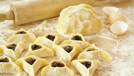 hamantaschen purim dough baking