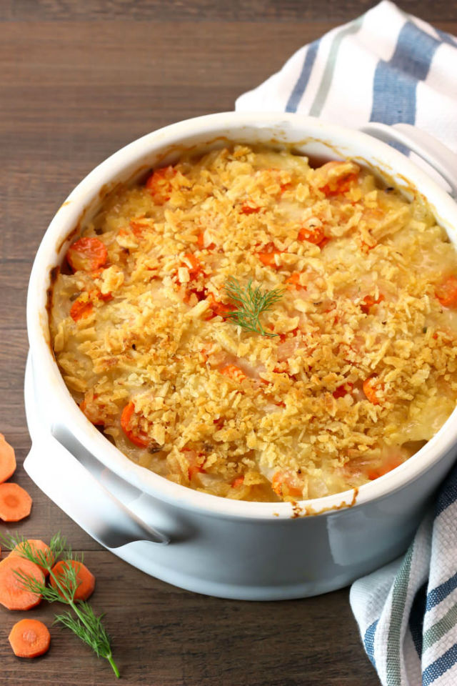 potato and carrot gratin vert