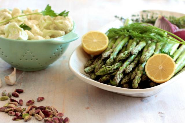asparagus soup prep