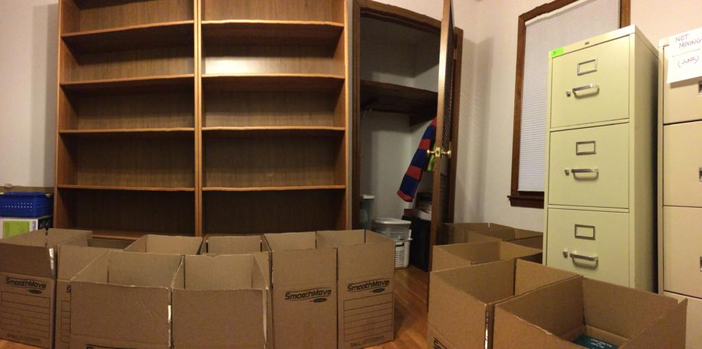 moving home office