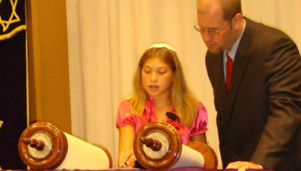 Rabbi Talks to Bat Mitzvah Girl