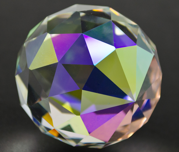 faceted crystal orb