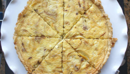 feta onion quiche