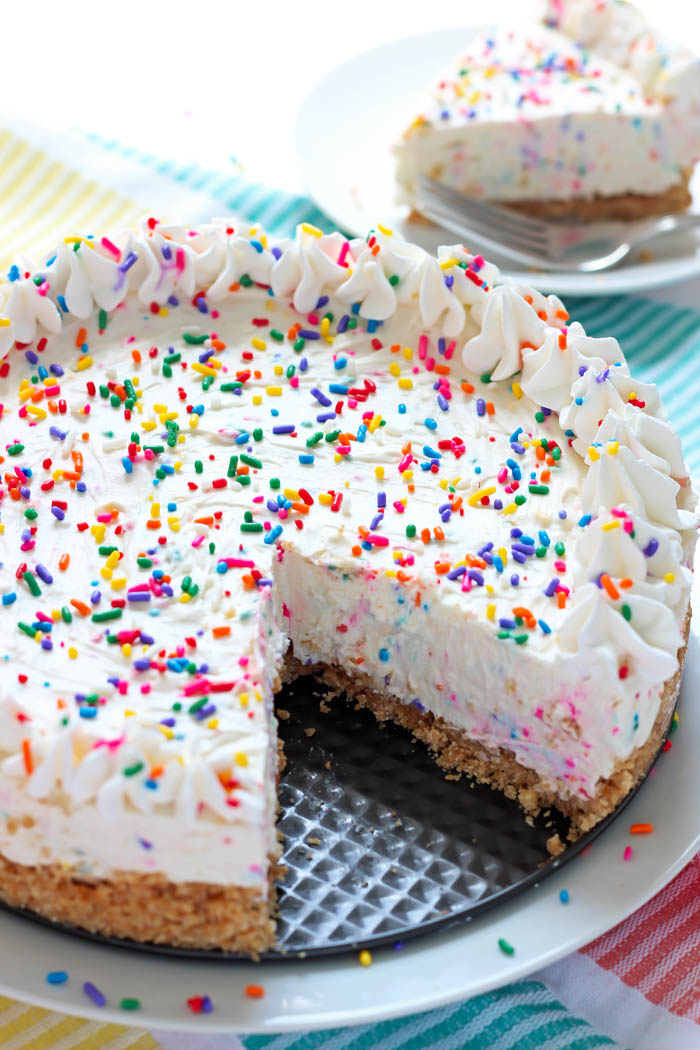 No Bake Funfetti Cheesecake Recipe The Nosher