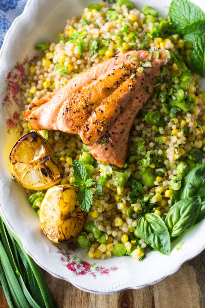 Salmon with Israeli Couscous-1