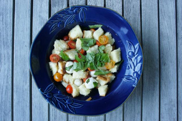 challah panzanella salad main
