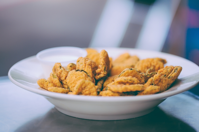 Deep-fried dill pickles