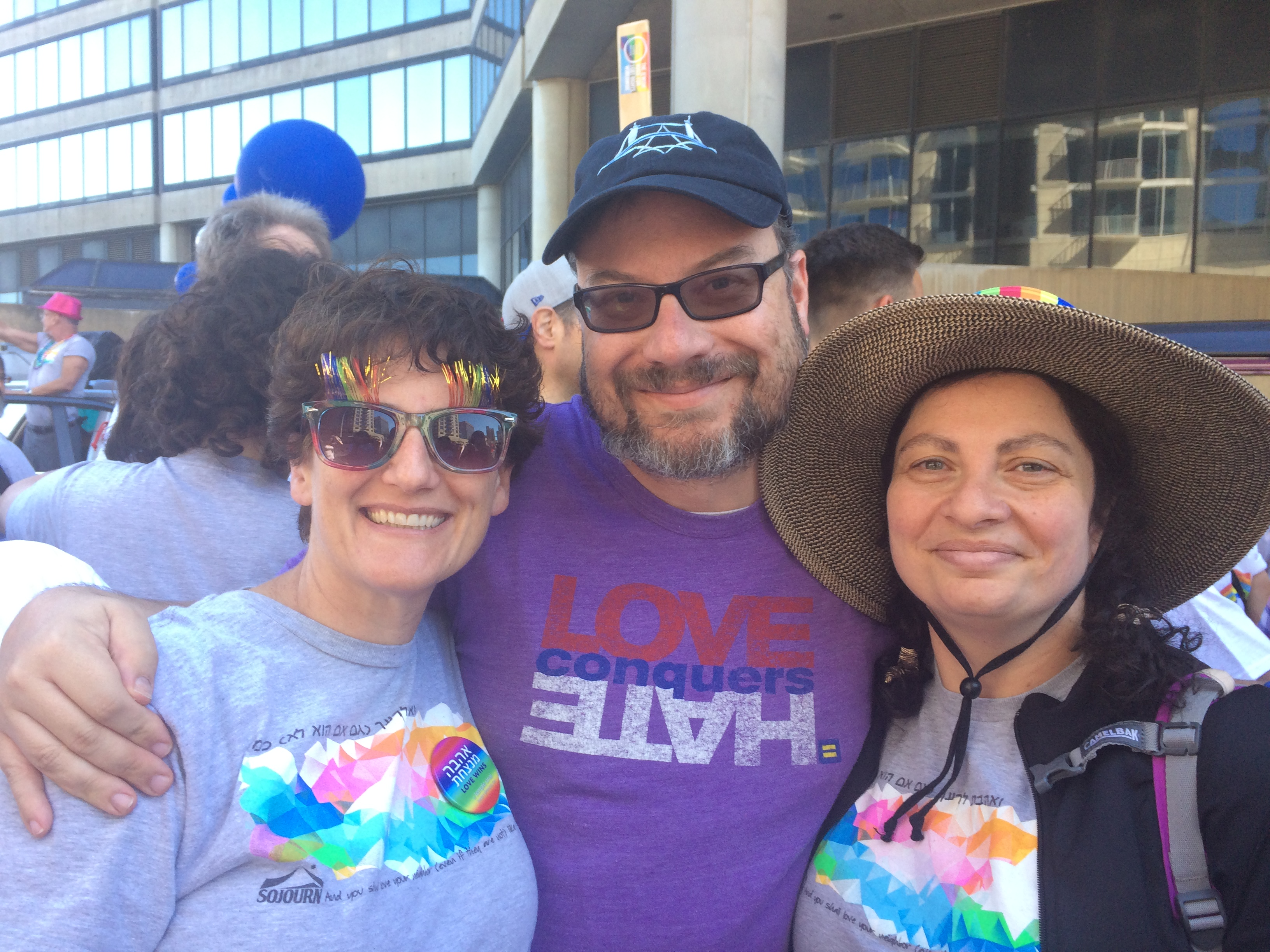 Atlanta Rabbis Without Borders (right to left): Ruth Abusch-Magder, Michael Bernstein and Pamela Gottfried