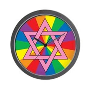 gay_jewish_star_of_david_wall_clock