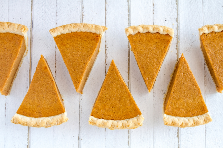 Homemade Pumpkin Pie Slices