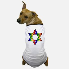 star_of_david_w_rainbow_dog_tshirt
