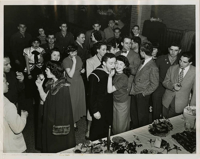 A Hanukkah party at a Jewish community center in Baltimore, 1940. (Michael Jacobson/Courtesy of the American Jewish Historical Society)