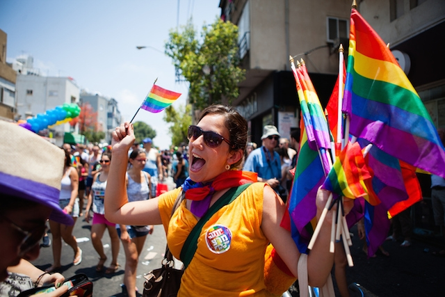 At the annual gay pride parade in Tel Aviv , June 2014. (iStock)