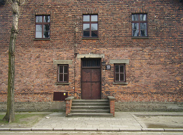 The medical experimentation building at Auschwitz. (Wikimedia Commons)