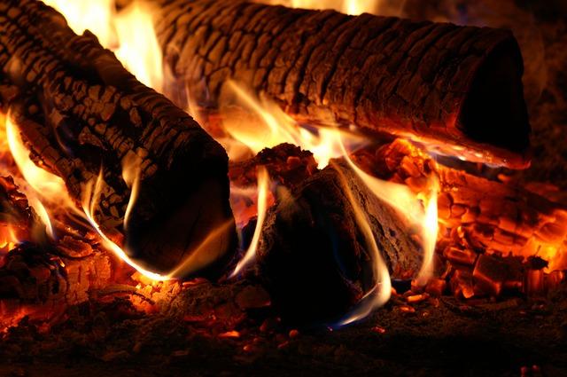 Embers Burn Flame Fire Heat Wood