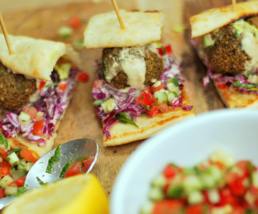 Falafel Sliders Recipe | The Nosher