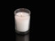Lighted Jewish memorial yahrtzeit candle for yizkor service