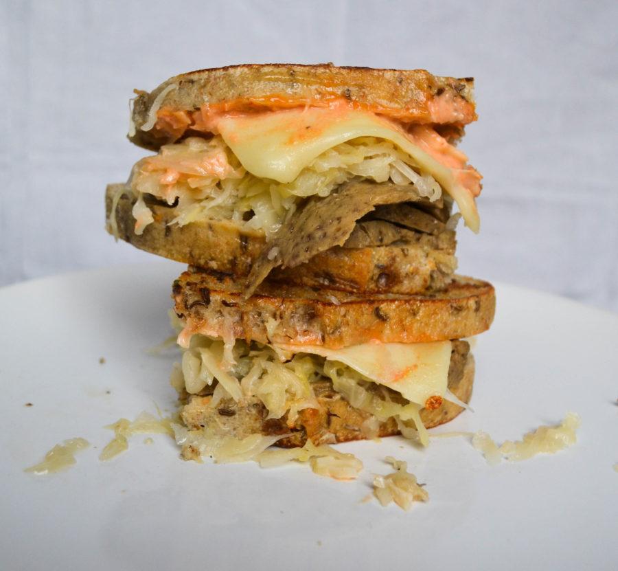Vegetarian Reuben Sandwich Recipe with Seitan and Russian