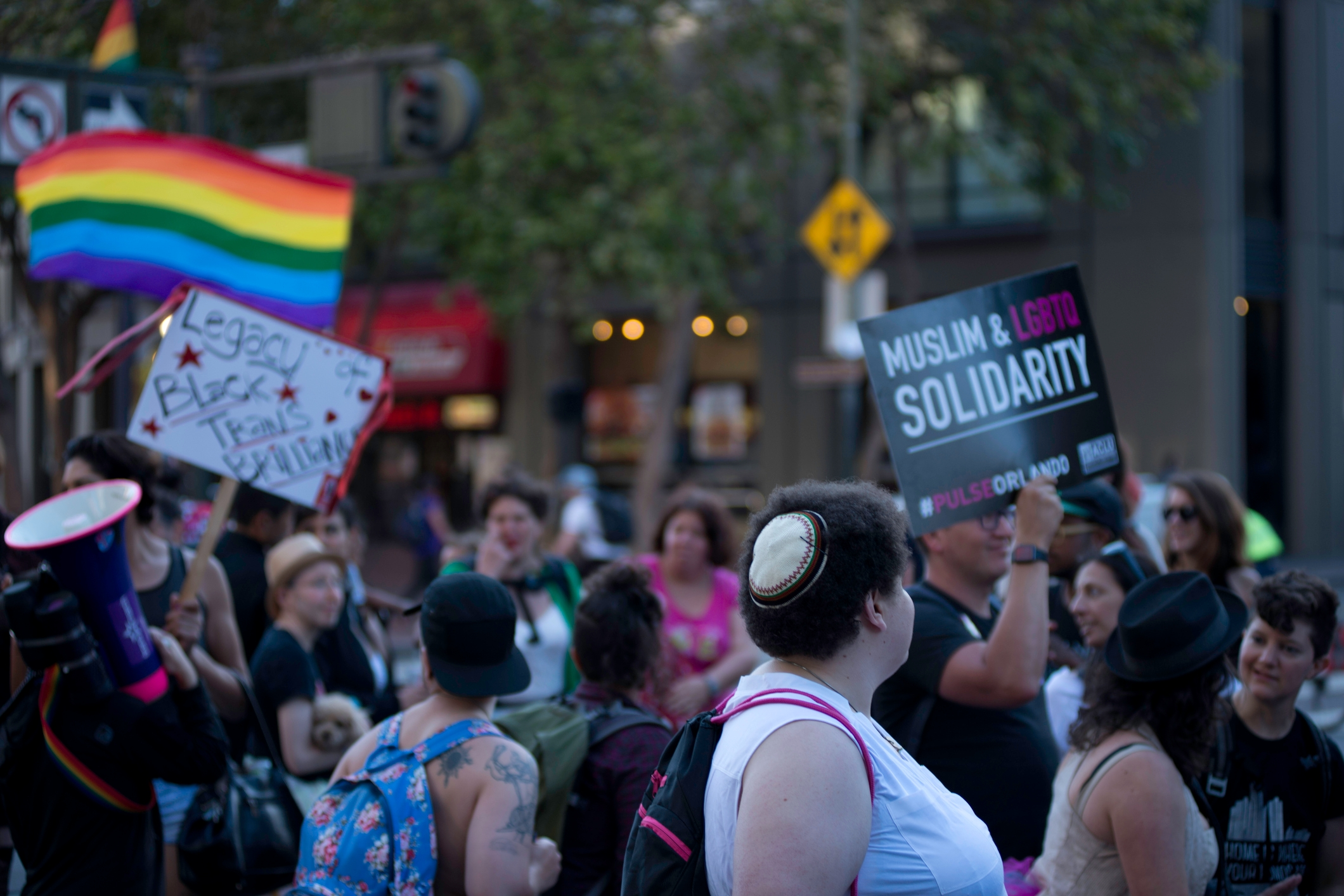 People at the Transmarch in San Francisco, June 2016. (iStock)