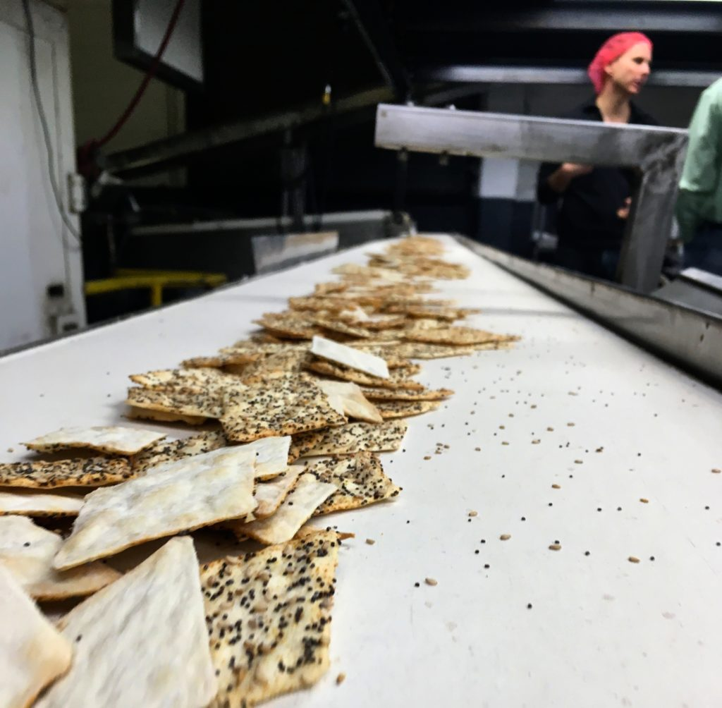 Inside the Matzo Project bakery.