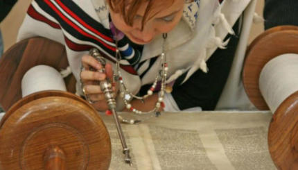 woman reading torah
