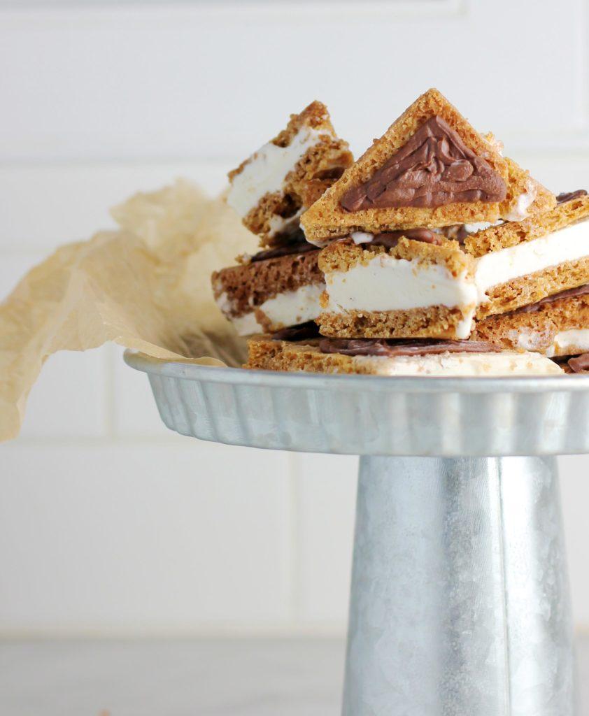 hamantaschen ice cream sandwiches on platter