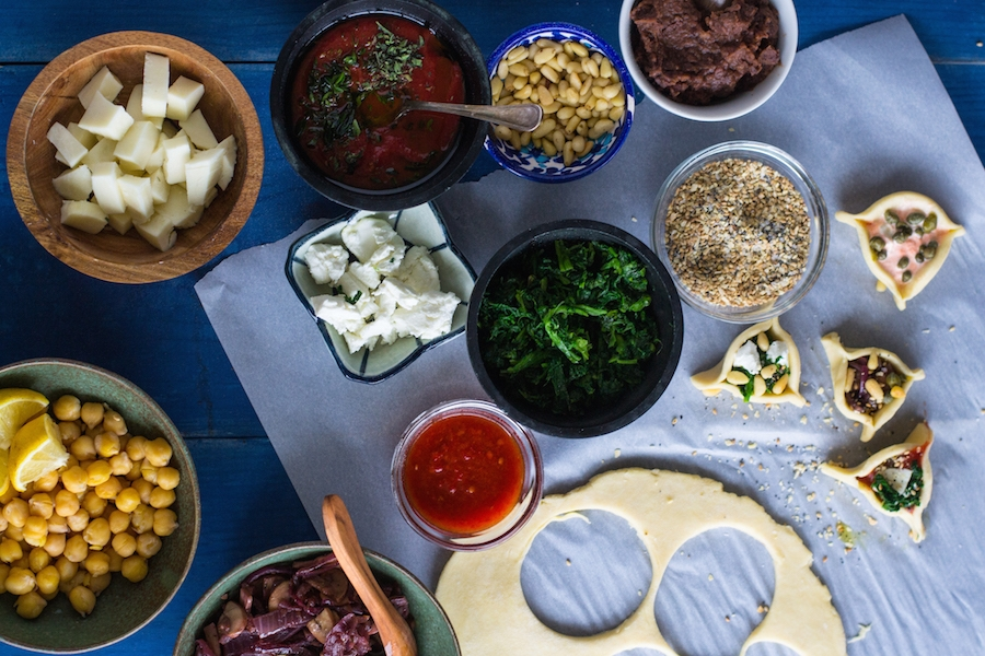 savory hamantaschen spread