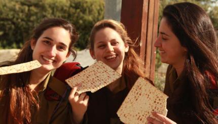 matzah passover women IDF Israel