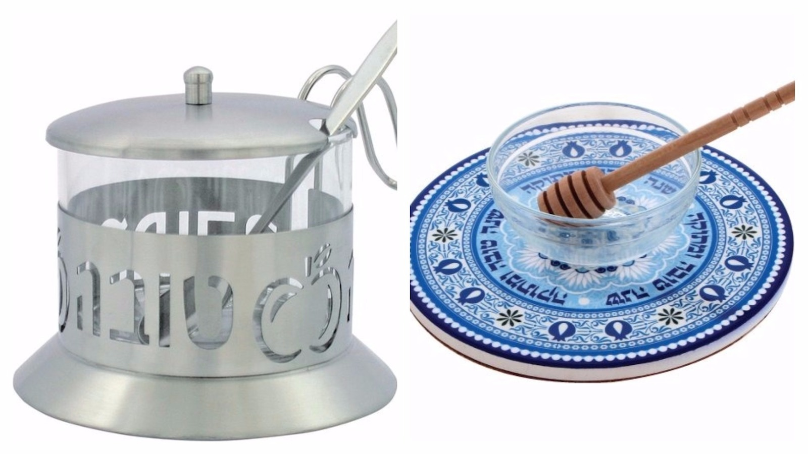 Rosh hashanah gift guide my jewish learning it is traditional to dip apples in honey on rosh hashanah and a special honey dish can add extra beauty to the practice we like this stainless steel and kristyandbryce Choice Image