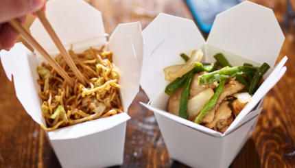 Chinese food on Christmas