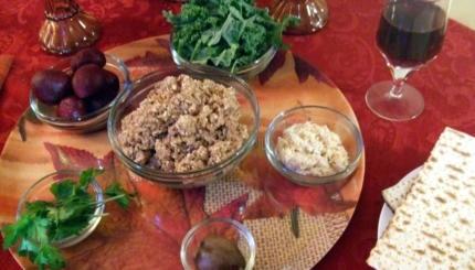 vegan seder plate